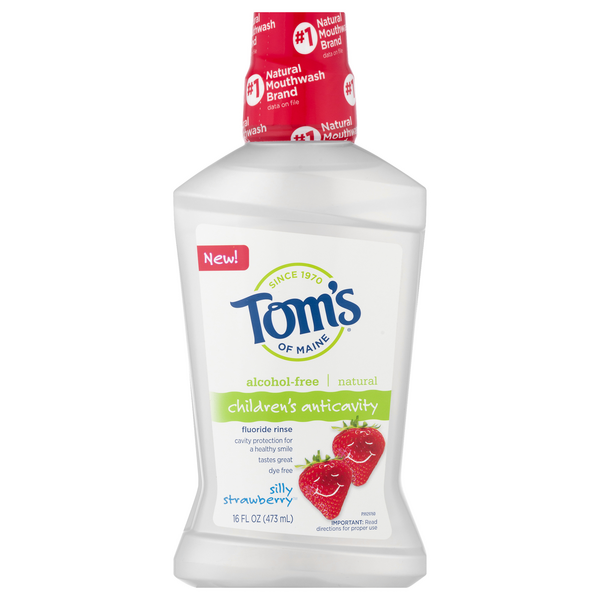 Tom's of Maine Children's Anticavity Fluoride Rinse Silly Strawberry