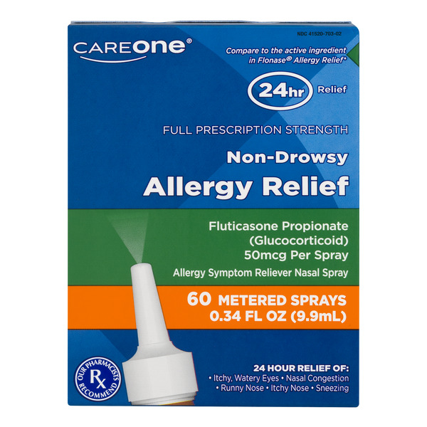 CareOne Allergy Relief Fluticasone Propionate Non-Drowsy Nasal Spray