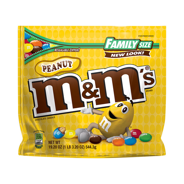 M&M's Peanut Chocolate Candies Family Size
