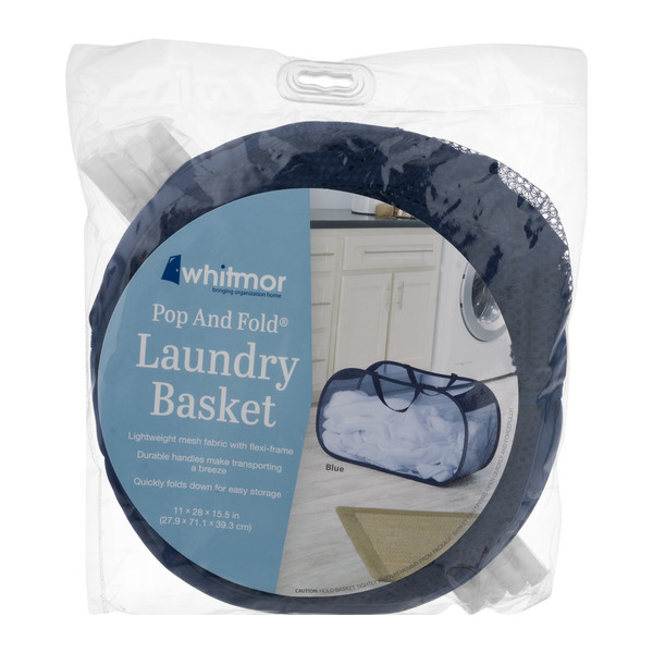 Whitmor Laundry Basket Pop & Fold