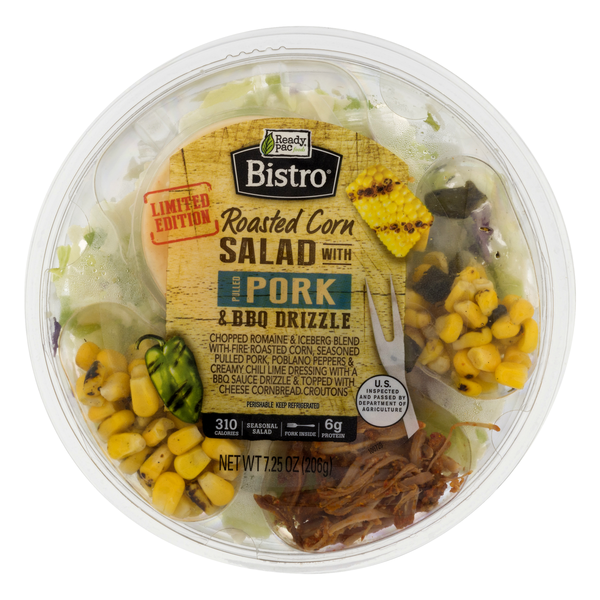 Ready Pac Bistro Salad Bowl Roasted Corn with Pulled Pork & BBQ Drizzle