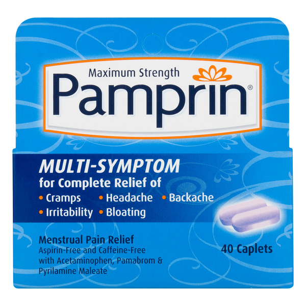 Pamprin Multi-Symptom Maximum Strength Caplets