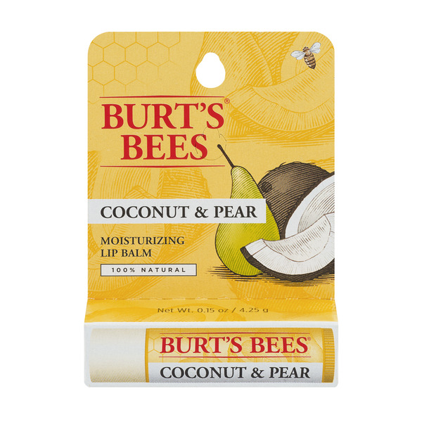 Burt's Bees Moisturizing Lip Balm Coconut & Pear 100% Natural