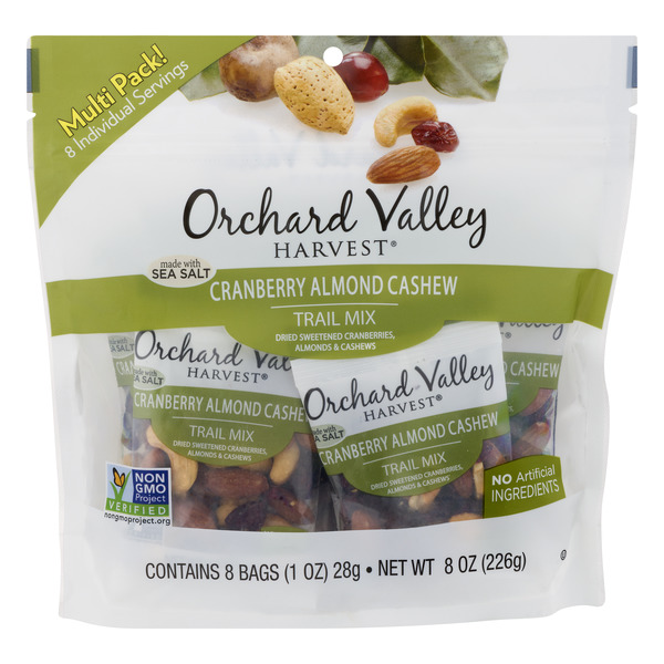 Orchard Valley Harvest Trail Mix Cranberry Almond Cashew - 8 ct