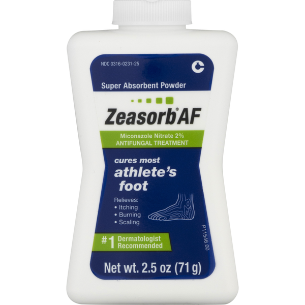 Zeasorb AF Antifungal Treatment Super Absorbent Powder