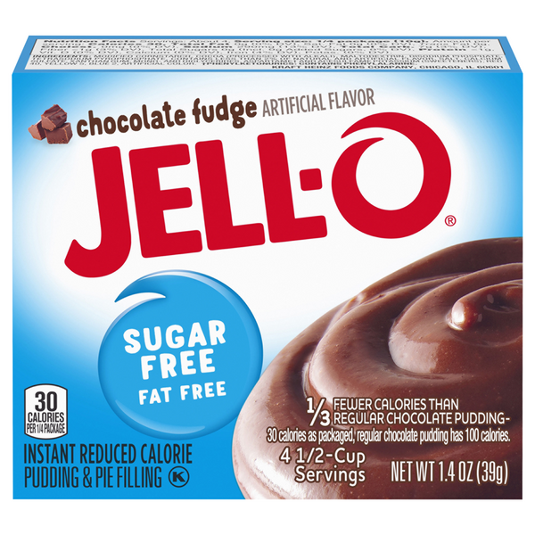 Jell-O Instant Pudding & Pie Filling Chocolate Fudge Fat & Sugar Free