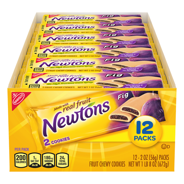 Nabisco Newtons Chewy Cookies Fig Snack Packs - 12 pk