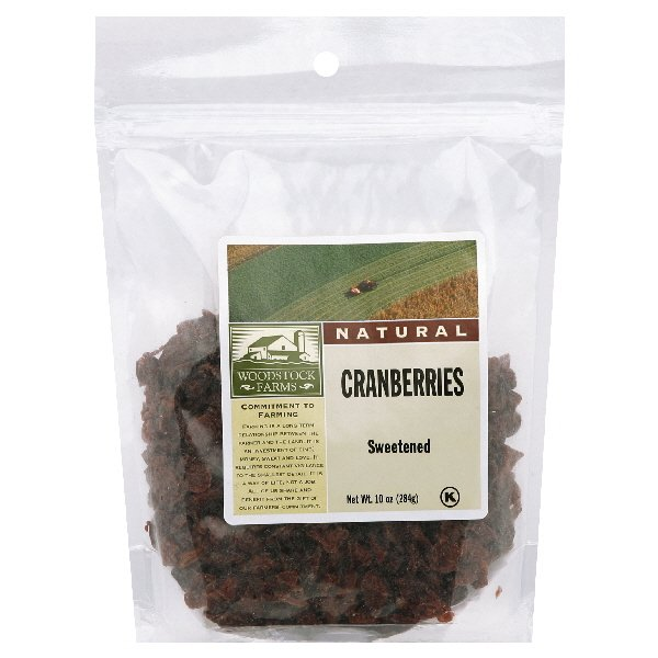 Woodstock Farms Cranberries Sweetened Natural