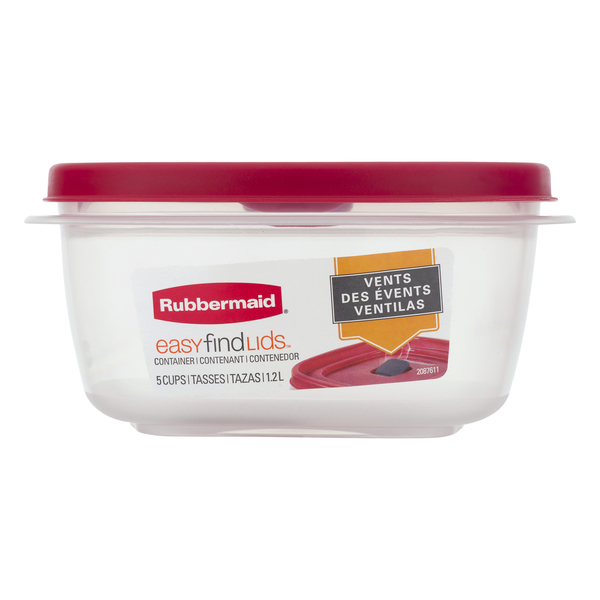 Rubbermaid Easy Find Lids Container & Lid 5 Cup
