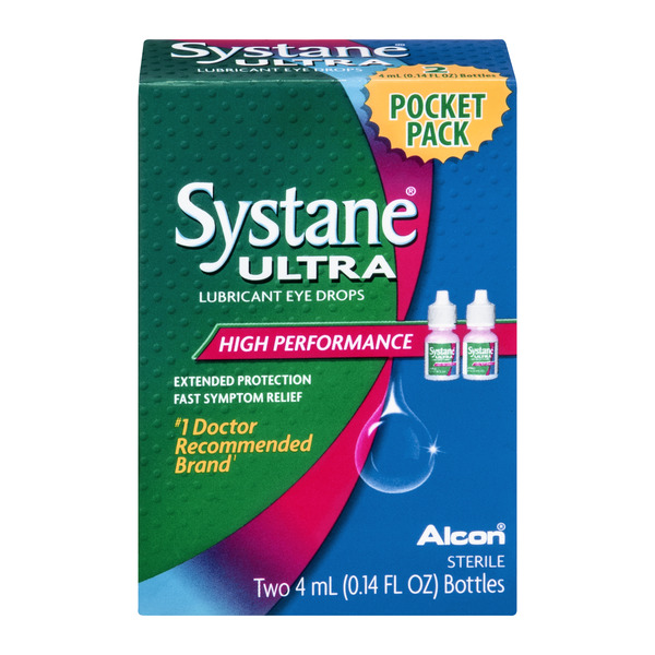 Systane Ultra Lubricant Eye Drops High Performance - 2 ct
