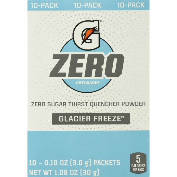 Gatorade Zero Thirst Quencher Powder Glacier Freeze - 10 ct