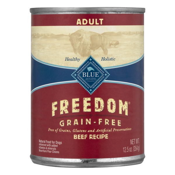 BLUE Freedom Adult Wet Dog Food Beef Recipe Grain Free Natural