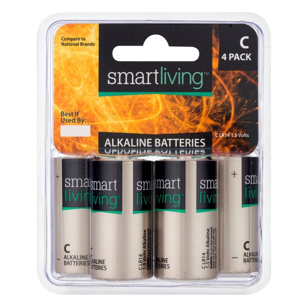 Smart Living Alkaline Batteries Size C