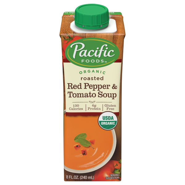 Pacific Foods Roasted Red Pepper & Tomato Soup Organic
