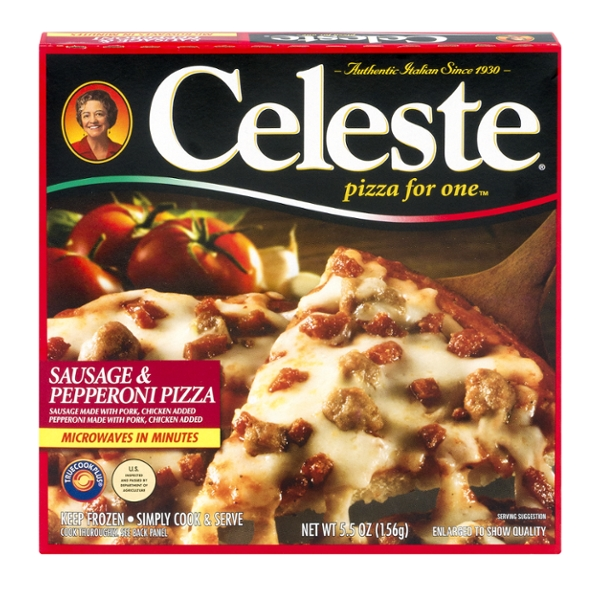 Celeste Pizza For One Sausage & Pepperoni