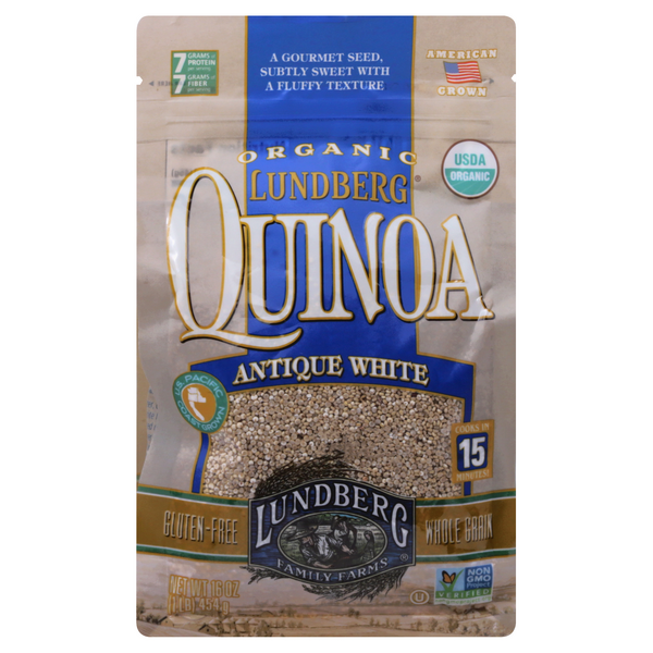 Lundberg Organic Quinoa Antique White Gluten Free Whole Grain