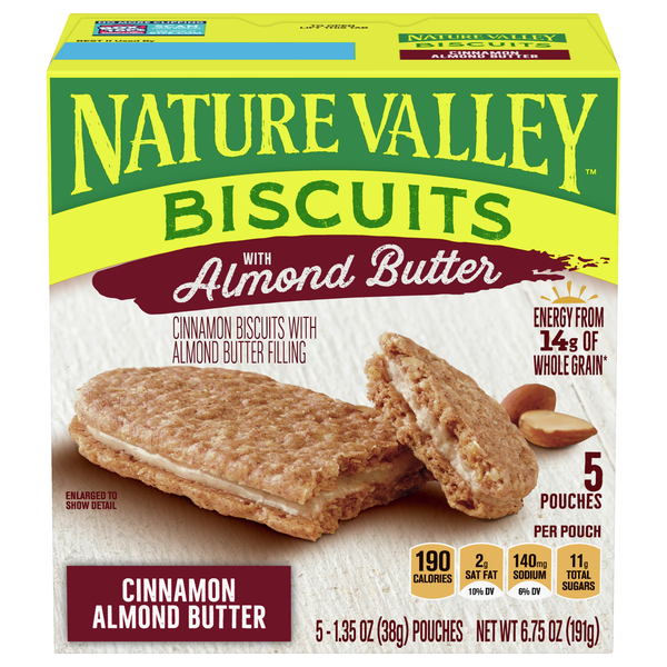 Nature Valley Cinnamon Biscuits with Almond Butter Filling - 5 ct