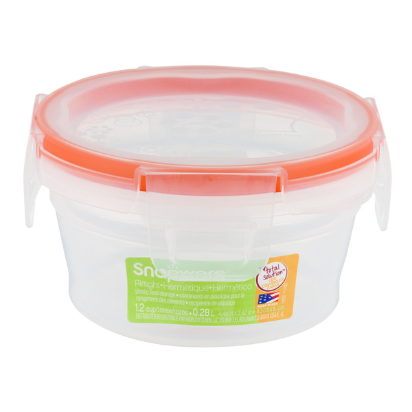 SNAPCARE Airtight Plastic Food Storage 1.21 Cup