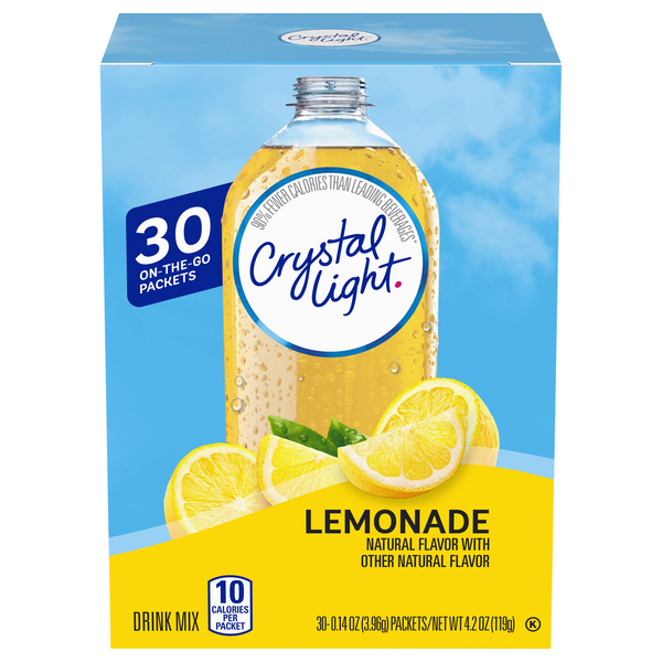 Crystal Light On The Go Drink Mix Lemonade - 30 ct