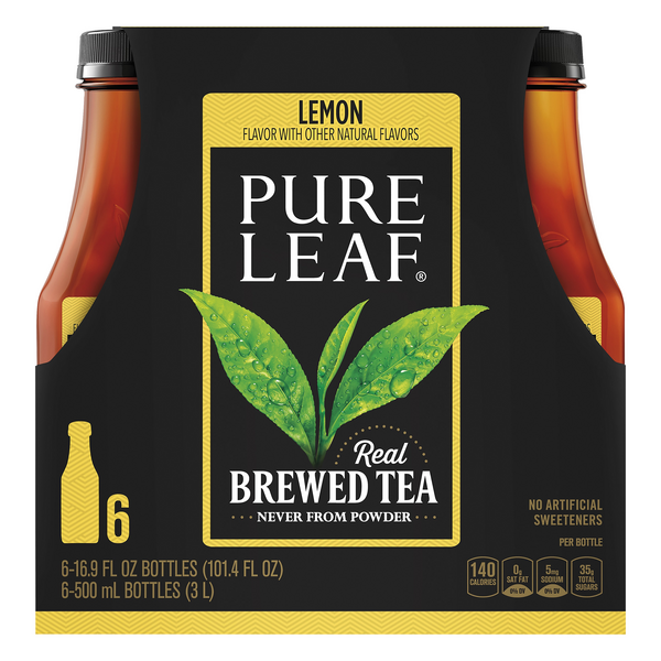 Pure Leaf Real Brewed Lemon Tea All Natural - 6 pk