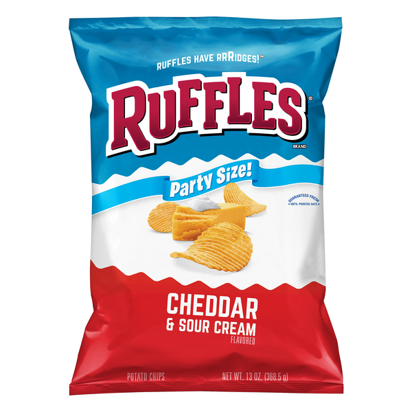 Ruffles Potato Cheddar & Sour Cream Potato Chips Party Size