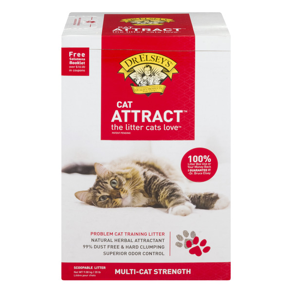 Dr. Elsey's Cat Attract Scoopable Cat Litter Multi-Cat Strength