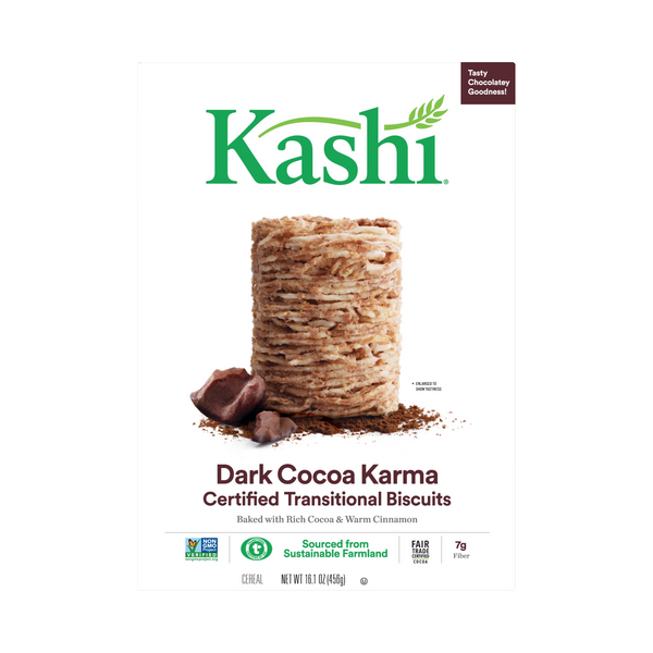 Kashi Whole Wheat Biscuits Cereal Dark Cocoa Karma with Cinnamon
