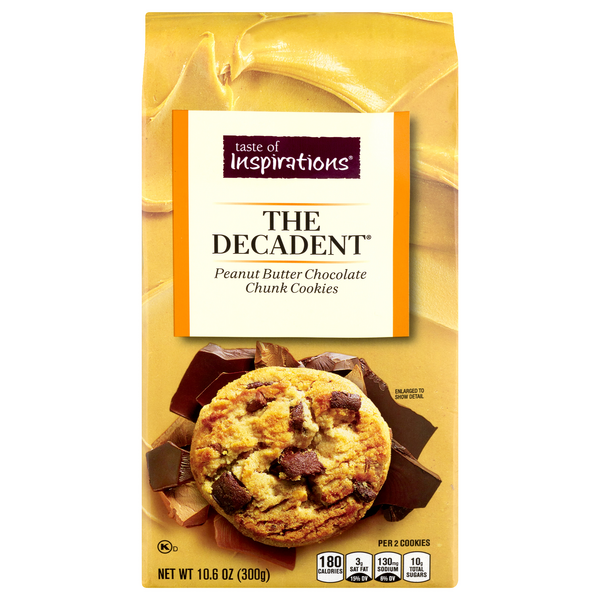 Taste of Inspirations The Decadent Cookies Peanut Butter Chocolate Chunk