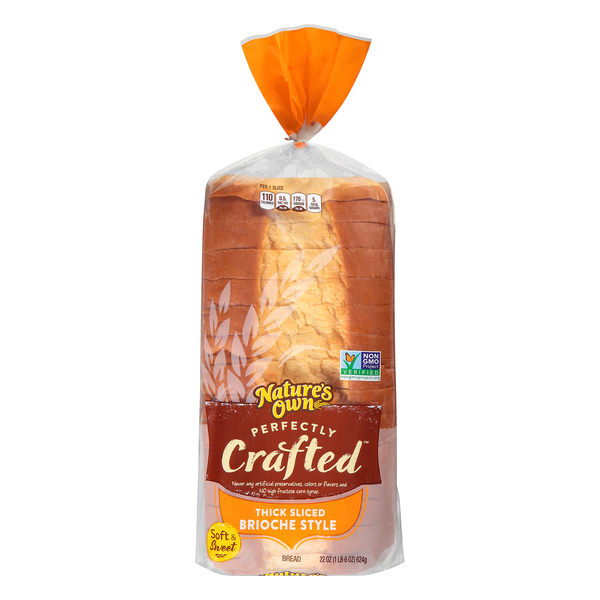 Nature's Own Perfectly Crafted Brioche Style Bread Thick Sliced