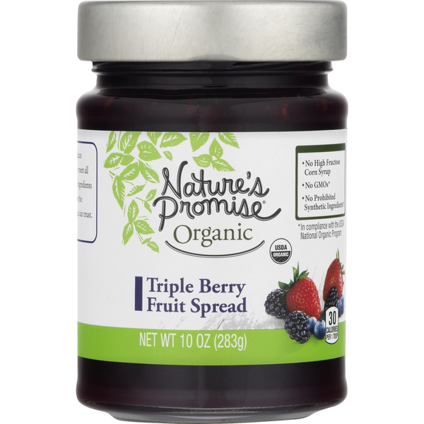 Nature's Promise Organic Triple Berry Fruit Spread