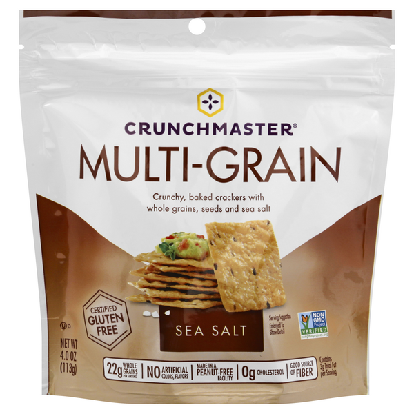 Crunchmaster Multigrain Crackers Sea Salt Gluten Free