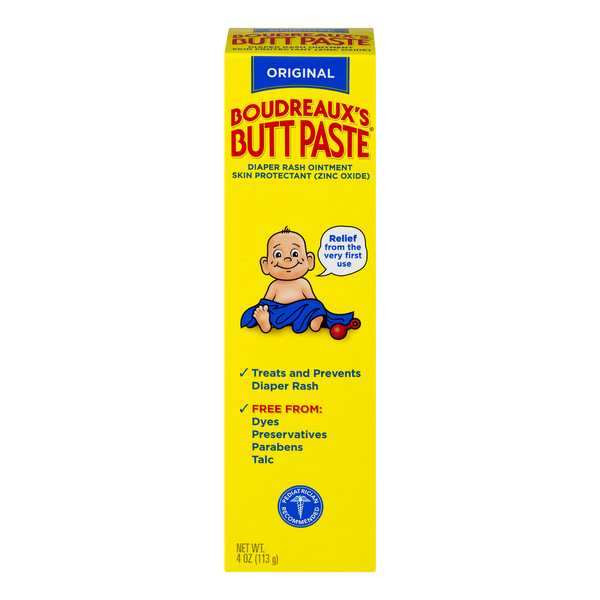 Boudreaux's Butt Paste Diaper Rash Ointment & Skin Protectant Original