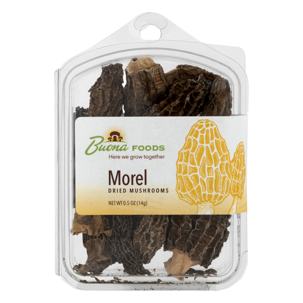 Buona Foods Dried Mushrooms Morel