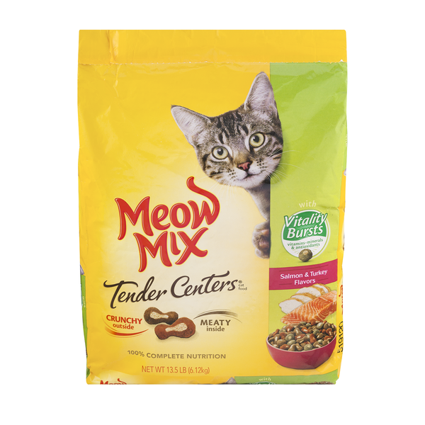 Meow Mix Tender Centers Dry Cat Food Salmon & Turkey Flavors