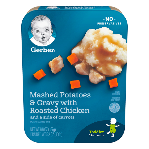Gerber Toddler Lil' Entrees Mashed Potatoes Gravy Chicken