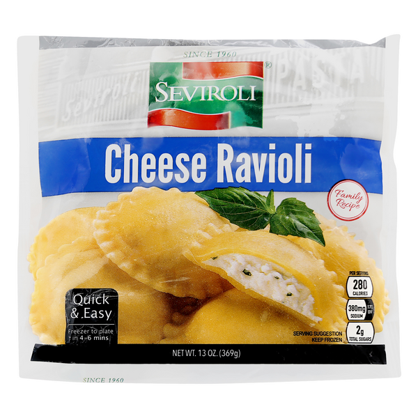 Seviroli Ravioli Large Cheese Frozen