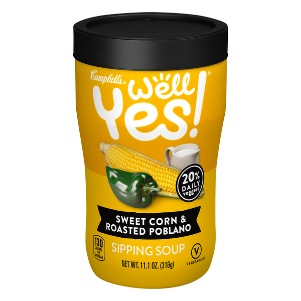 Campbell's Well Yes! Sipping Soup Sweet Corn & Roasted Poblano