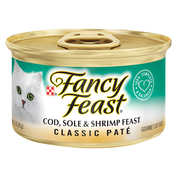 Fancy Feast Classic Pate Wet Cat Food Cod Sole & Shrimp Feast
