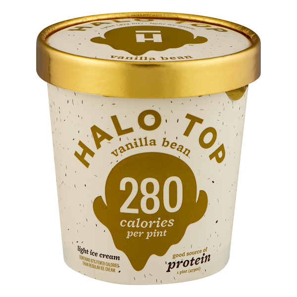 Halo Top Light Ice Cream Vanilla Bean