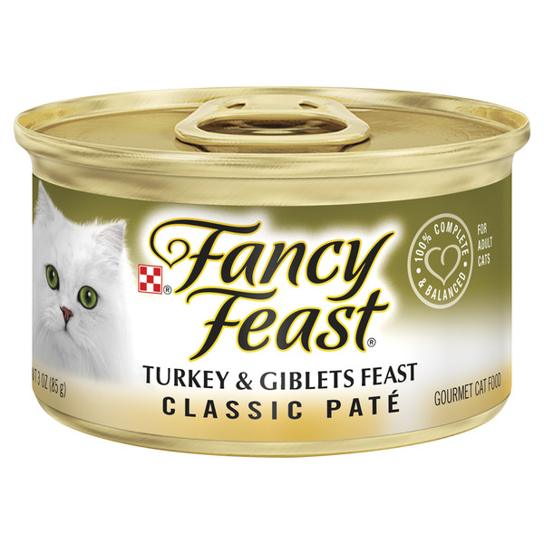 Fancy Feast Wet Cat Food Classic Pate Turkey & Giblets Feast