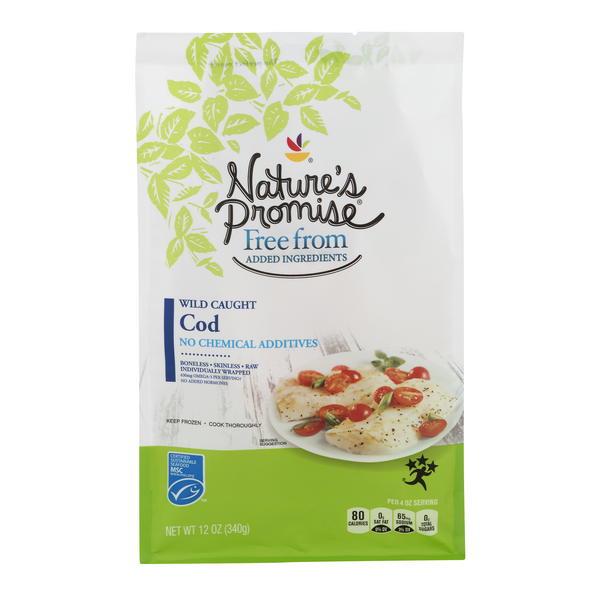 Nature's Promise Free from Wild Caught Cod Boneless Skinless - 4 ct Frozen