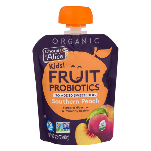Charles & Alice Kids! Fruit Probiotics Southern Peach Organic