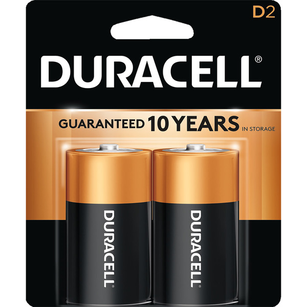 Duracell Coppertop Alkaline Batteries Size D