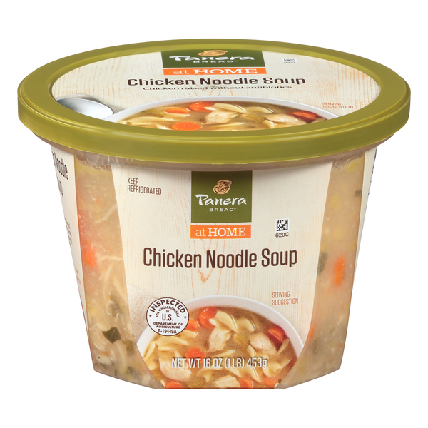 Panera Bread at Home Chicken Noodle Soup Low Fat Refrigerated