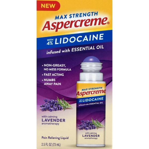 Aspercreme Pain Relieving Liquid with Lavender Essential Oil Max Strength