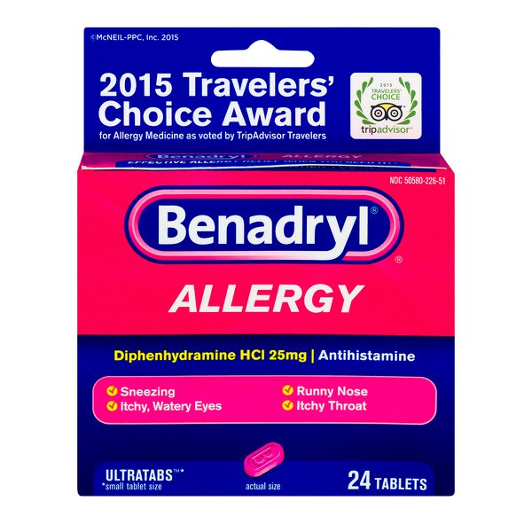 Benadryl Allergy Ultratabs 25mg