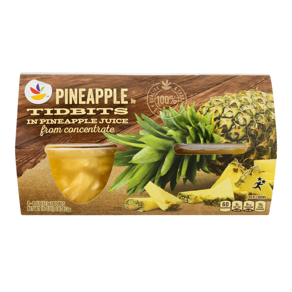 Giant Fruit Cups Pineapple Tidbits in Pineapple Juice - 4 ct