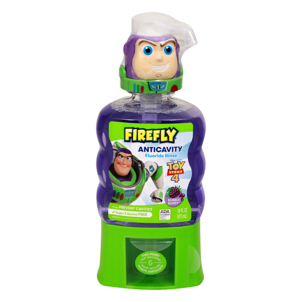 Firefly Toy Story 4 Anticavity Fluoride Rinse Bubble Berry