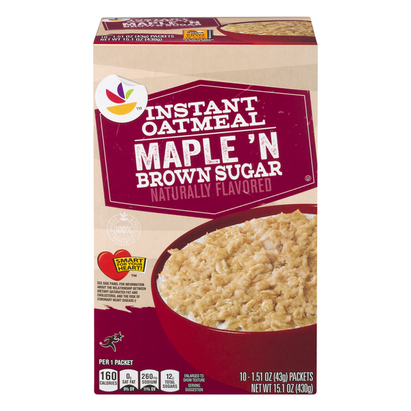 MARTIN'S Instant Oatmeal Maple Brown Sugar - 10 ct