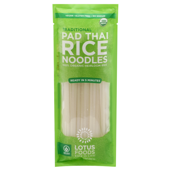 Lotus Foods Pad Thai Rice Noodles Traditional Organic